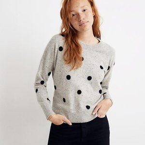 Madewell Cashmere Sweater in Donegal Dot Polka dot